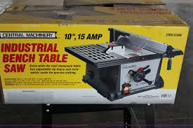 Table Saw Harbor Freight Central Machinery 10