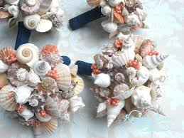 Seashell Bouquet Seashell Bridal Bouquet Destination Wedding Store