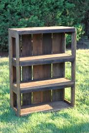 How To Make A Wood Shelving Unit by The 25 Best Pallet Bookshelves Ideas On Pinterest Pallets