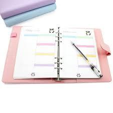 agenda bureau laconile agenda format a5 en similicuir avec organiseurs