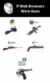Opera Meme - dopl3r com memes if web browsers were guns mozilla firefox