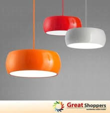 Red Ceiling Lights by Best 25 Orange Lamp Shade Ideas On Pinterest Orange Floor Lamps