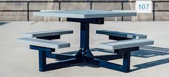 Square Pedestal Table Outdoor Pedestal Tables