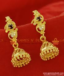 small rings design images Er146 traditional small daily wear ad jhumki design gold plated jpg