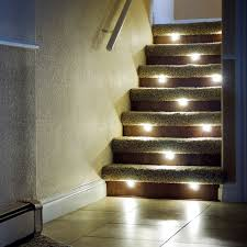 led stair lighting and indoor led recessed stair light kit