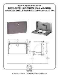 Koala Kare Changing Table by Kb110 Sswm Koala Kare Products Pdf Catalogues Documentation