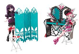 amazon com monster high frights camera action dressing room