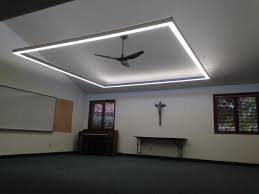 what is the best lighting for a sloped ceiling installed this hanging square 12 x12 led lighting fixture