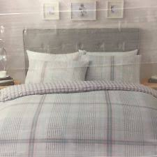 Tesco Bedding Duvet Tesco Checked Bedding Sets U0026 Duvet Covers Ebay