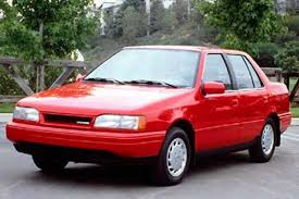 tbt 1986 hyundai excel throwbacks pinterest