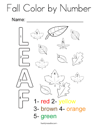 fall color by number coloring page twisty noodle