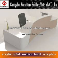 Acrylic Reception Desk Beautiful Acrylic Stone Reception Desk Table Counter View Acrylic