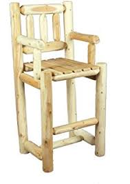 amazon com castlecreek log swivel bar stool 24