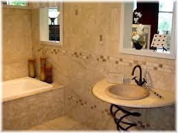 bathroom breathtaking design ideas using brown tile backsplash