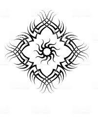 sun tribal tattoo tribal tattoo set sun frame stock vector art 118817317 istock