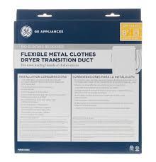 Clothes Dryer Vent Parts Pm08x10085 Flexible Metal Dryer Transition Duct Ge Parts