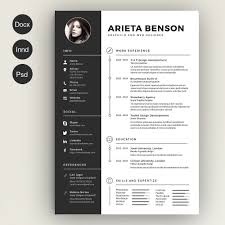 creative resume template free clean cv resume cover letter template template and infographic