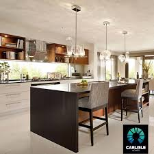 kitchen island bench waterfall edge feature lighting