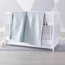 Mint Green Crib Bedding Mint Cotton Crib Bedding Crate And Barrel