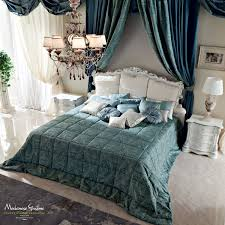 Italian Double Bed Designs Wood Double Bed Classic Wooden With Upholstered Headboard Bella