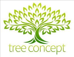 green tree logos vector graphic 05 vector logo free