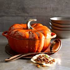 ceramic pumpkins staub ceramic pumpkin cocotte williams sonoma