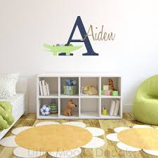 Wall Decal Letters For Nursery Children Wall Decal Baby Name Monogram Vinyl Nursery Decals