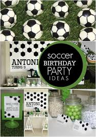 soccer party ideas boy s soccer themed birthday party spaceships and laser beams