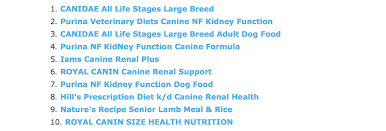 diet alternatives to renal dog food pets stack exchange