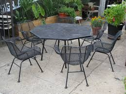 furniture black wrought iron outdoor furniture with wrought iron vintage perfect outdoor patio furniture and woodard wrought iron