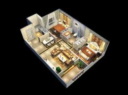 professional company provides client with 3d floor plan 2d floor