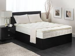 bedroom bed mattresses for modern design with dark wood bedside