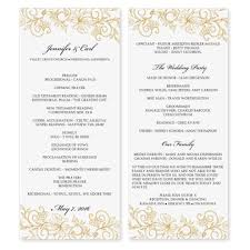 wedding program layout template free printable wedding program templates best business template