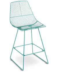 johnny wire bar stool duck egg blue 65cm cintesi