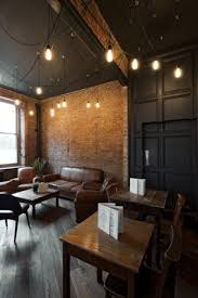 exposed brick wall lighting hanging lights idea to hang them less uniformly also exposed brick