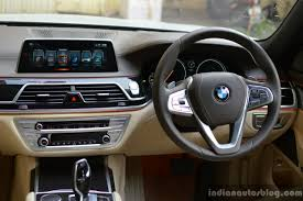 2017 bmw 7 series m sport 730 ld dashboard review indian autos