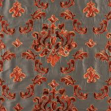 Orange Patterned Curtains Upholstery Fabric For Curtains Patterned Viscose Biennale