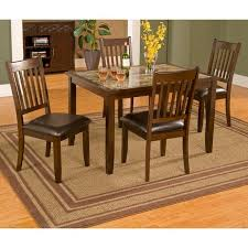 alpine furniture capitola faux marble 5 piece dining table set