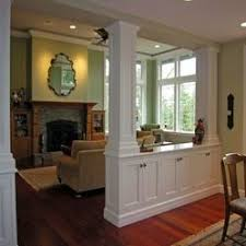 Half Wall Room Divider Living Room Half Wall Ideas Rooms Instead Of A Bowling Alley
