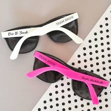 wedding favor sunglasses personalized wedding sunglasses white or pink
