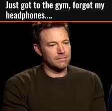 Forgot Meme - sad ben affleck when you forget your headphones know your meme