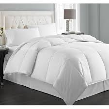 Chezmoi Collection White Goose Down Alternative Comforter Best Down Alternative Comforter A Red And White Plaid Pattern