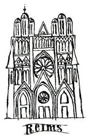 reims cathedral floor plan cathedral in reims drawing for architectural album art by