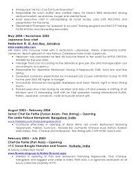 server resume objective samples server resume restaurant server