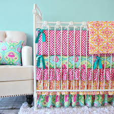 Bright Crib Bedding Gorgeous Purple Crib Bedding Pattern All Modern Home Designs