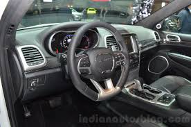 jeep grand cherokee 2016 2016 jeep grand cherokee srt night interior at the geneva motor