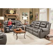 Steel Living Room Furniture Titan Living Room Reclining Sofa Loveseat Steel 71407