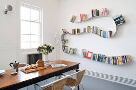 Kitchen Bookshelf Ideas Decorations Storage Nice Looking Black And White Open Shelves As