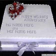 Wedding Anniversary Cakes Happy Anniversary Cake With Names Wishes