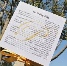wedding fan photo wedding fan program citrine designs